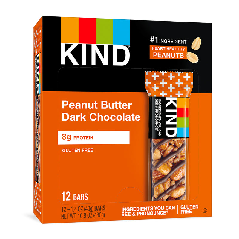 Peanut Butter Dark Chocolate Bars, 1.4 oz,  12 count
