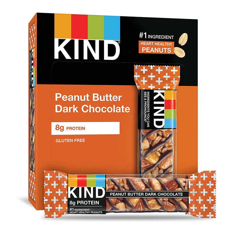 Dark Chocolate Peanut Butter Bars, 1.4 oz, 12 count