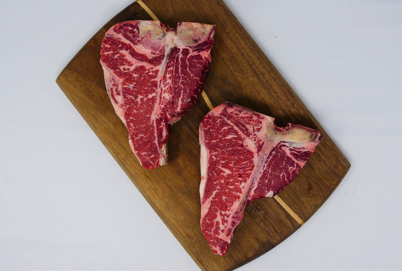 Dry Aged Certified Angus Beef T-Bone Steak 4/20-22oz