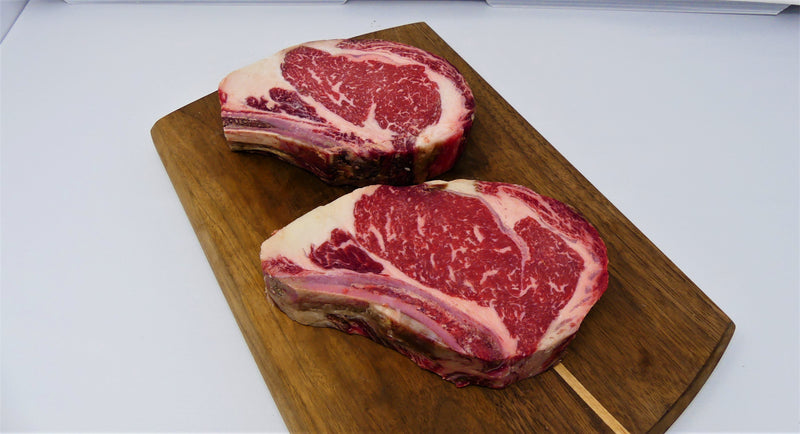 Dry Aged Certified Angus Beef Bone In Rib Chop 4/16-18oz