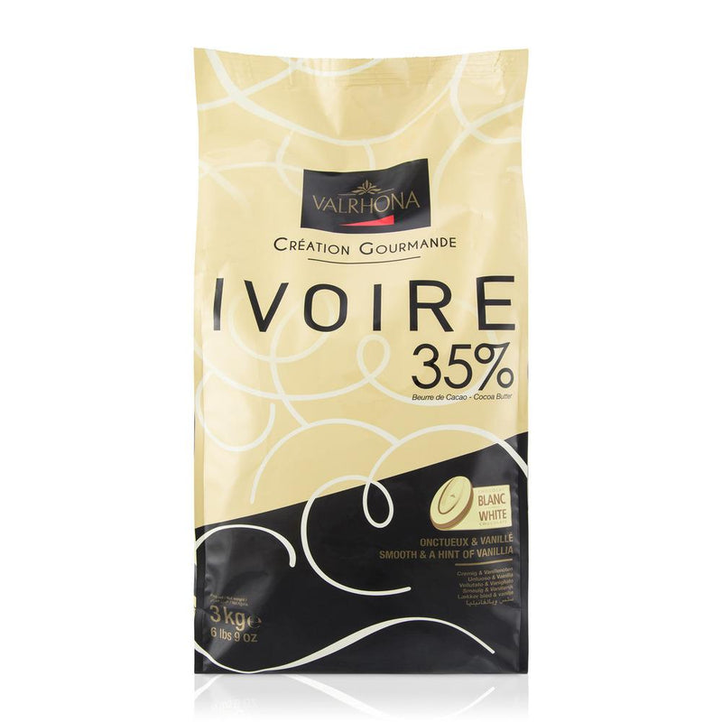 Valrhona Chocolate 35% Ivoire Feves, 3 kg