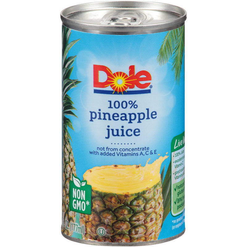Pineapple Juice, Forty-Eight 6 oz count