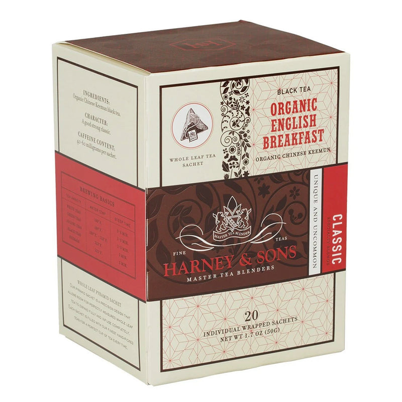 Tea, Organic English Breakfast Sachet, 6/20 ct