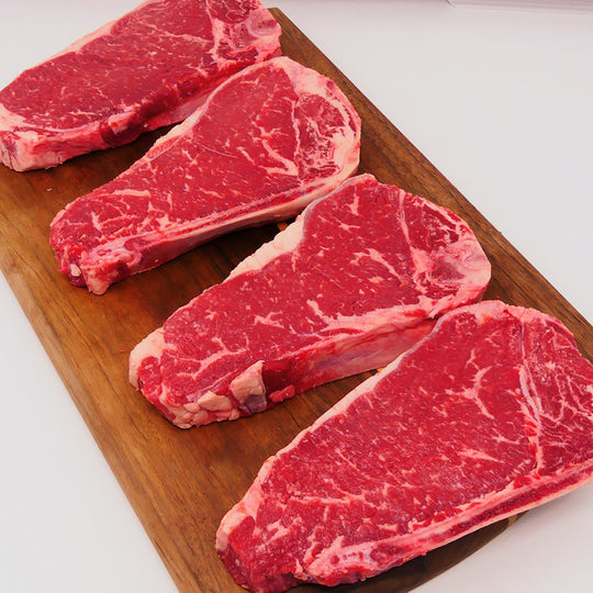 Black Angus Kansas City Strip Box, 4 / 14 oz