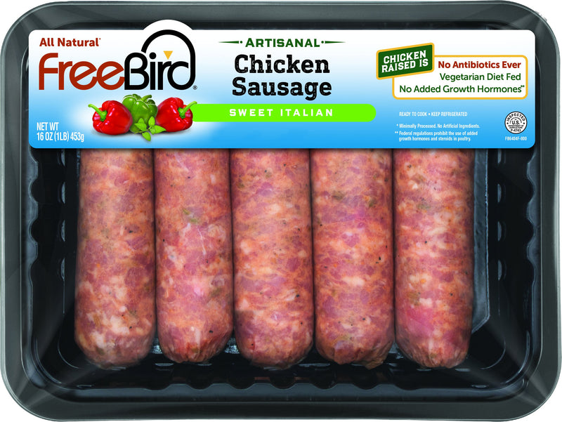 Antibiotic Free Sweet Italian Chicken Sausage, 25 count