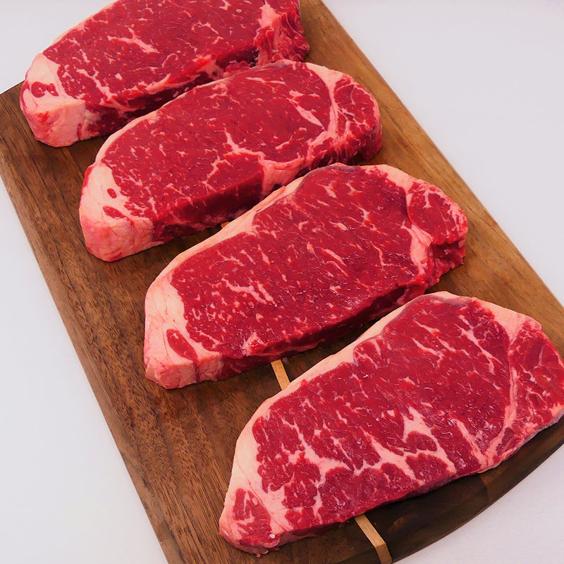 USDA Choice Grassfed Strip Steak, Four 12 oz portions