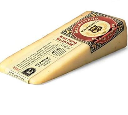 Bellavitano Black Pepper Cheese Wedges, 5.3 oz, 12 count