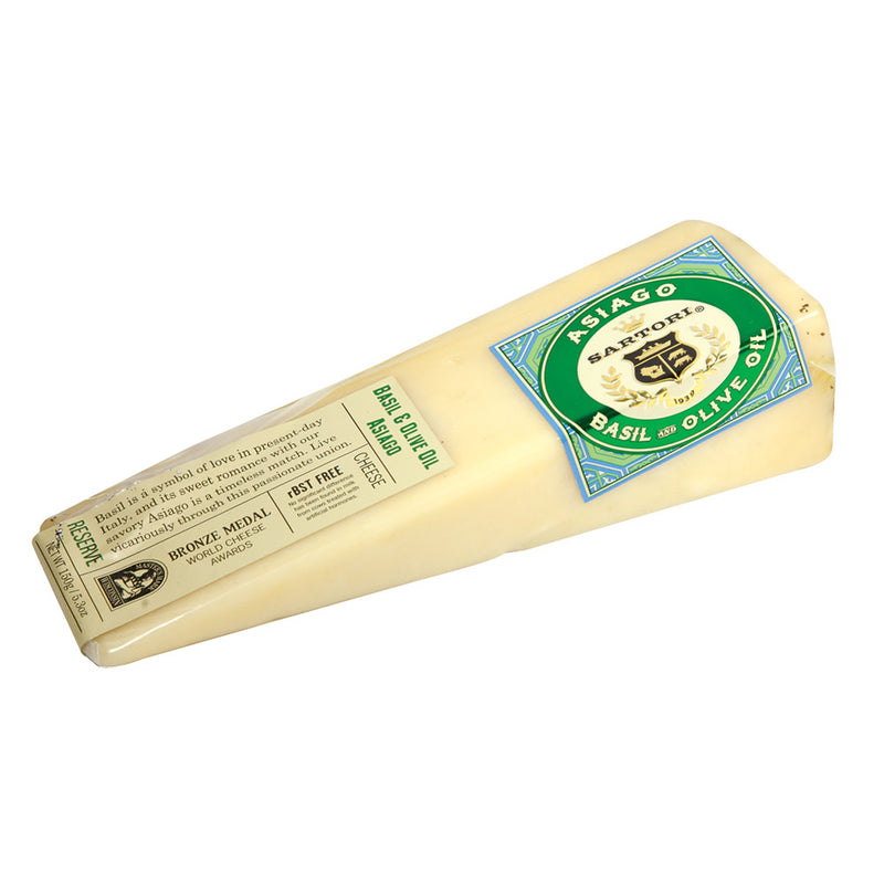 Basil And Olive Oil Asiago Cheese, 5.3 oz, 12 count
