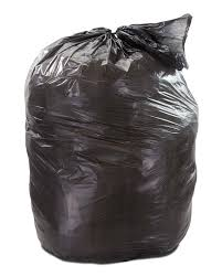 Trash Bags, Black, 55 Gallon, 100 count