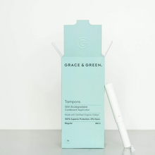 Charger l'image dans la galerie, Tampons Coton Bio avec Applicateur Biodégradable