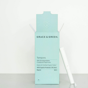 Tampons Coton Bio avec Applicateur Biodégradable