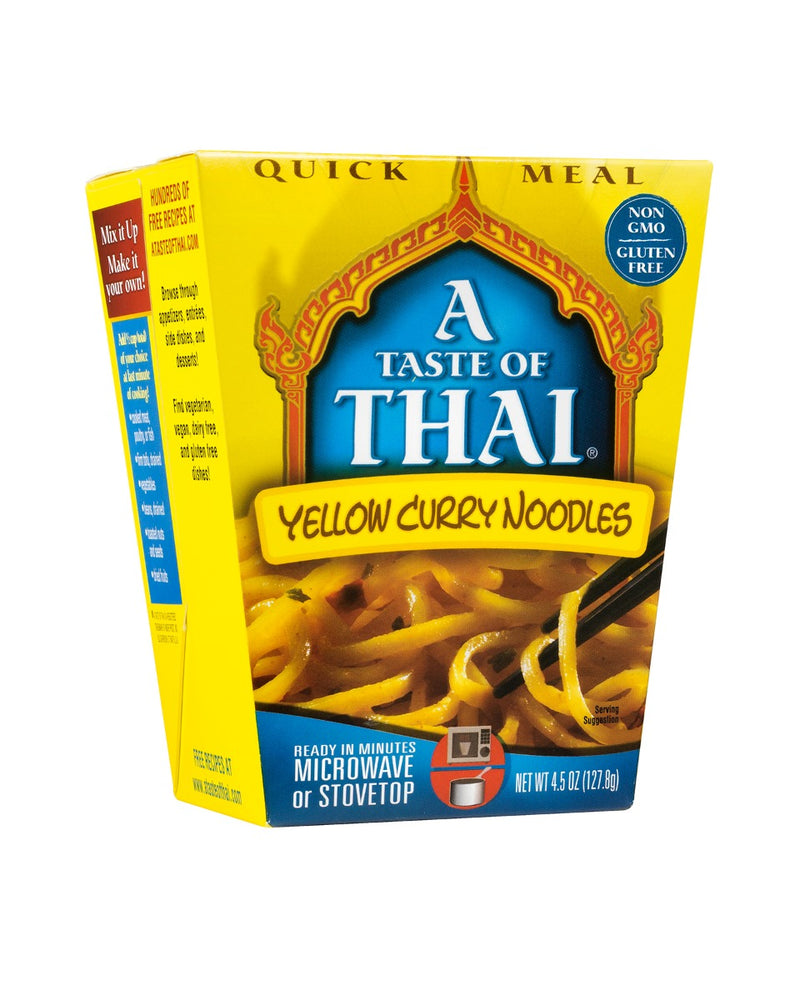 TASTE OF THAI: Yellow Curry Noodles Quick Meal, 4.5 oz Limited Stock
