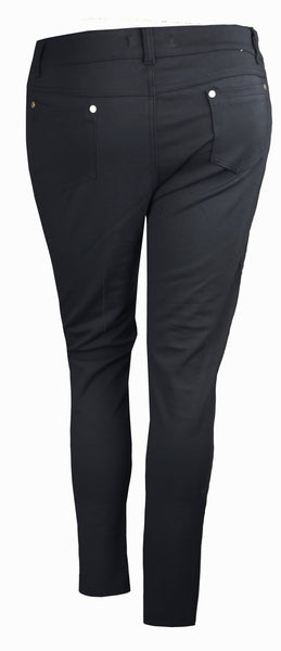 PLUS SIZE BLACK SKINNY FIT JEGGING