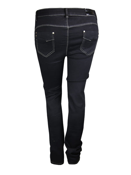 PLUS SIZE BLACK SKINNY FIT JEANS