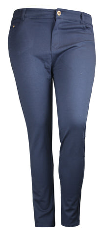 PLUS SIZE NAVY SKINNY FIT JEGGING