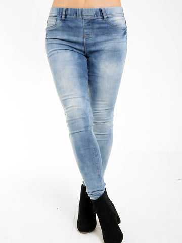 ACID WASH SKINNY JEGGING