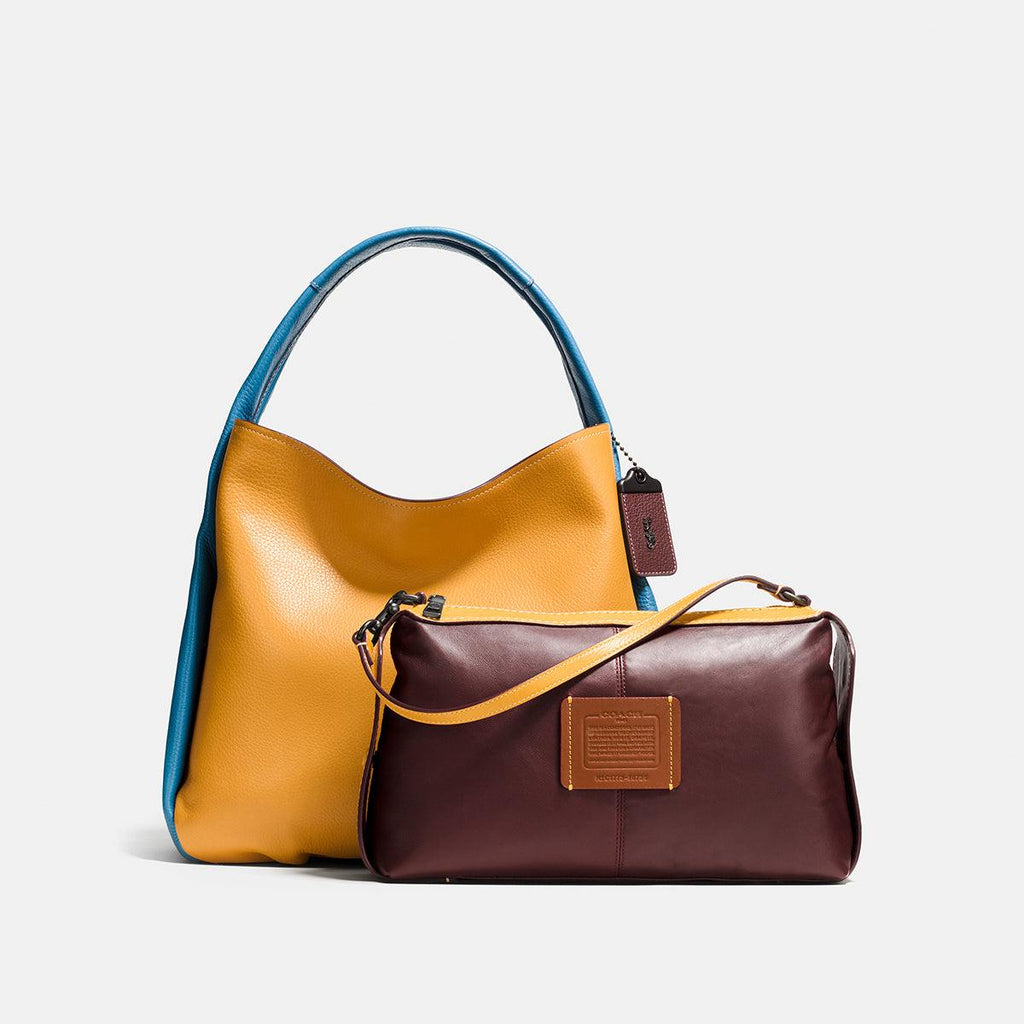 Colorblock Leather Bandit Hobo 39
