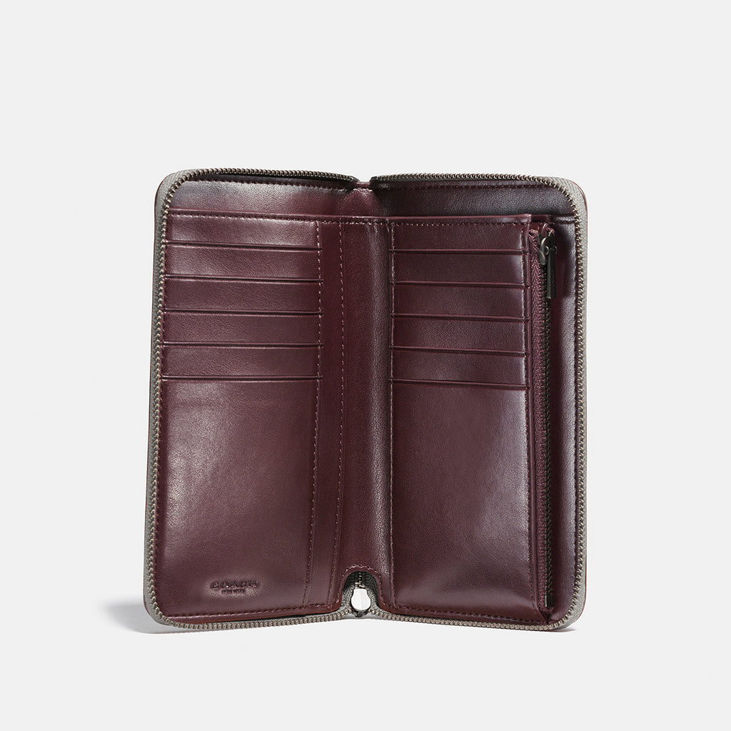 Prairie Rivets Medium Zip Around Wallet