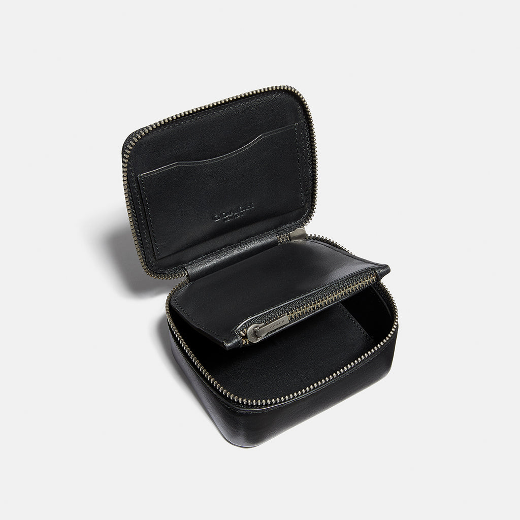 Small Travel Case In Refined Calf