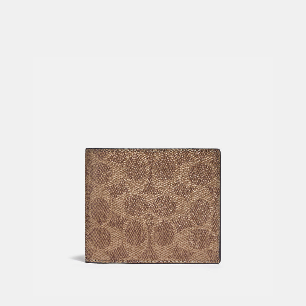 3-In-1 Wallet In Colorblock Signature Canvas