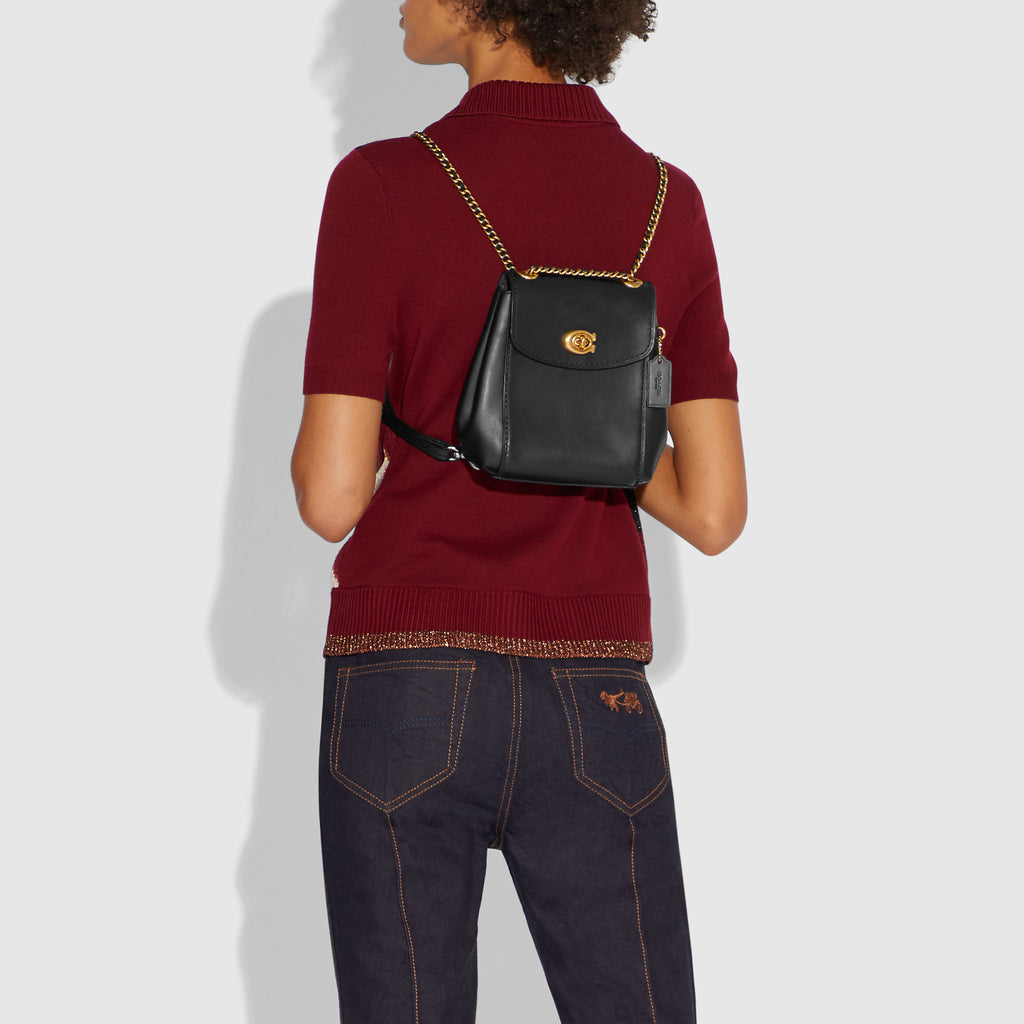 Refined Calf Leather Parker Backpack 16