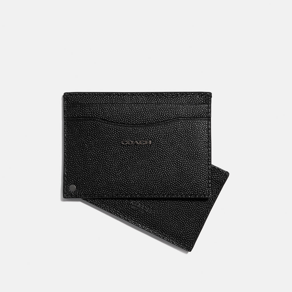 Swivel Card Case In Caviar Leather