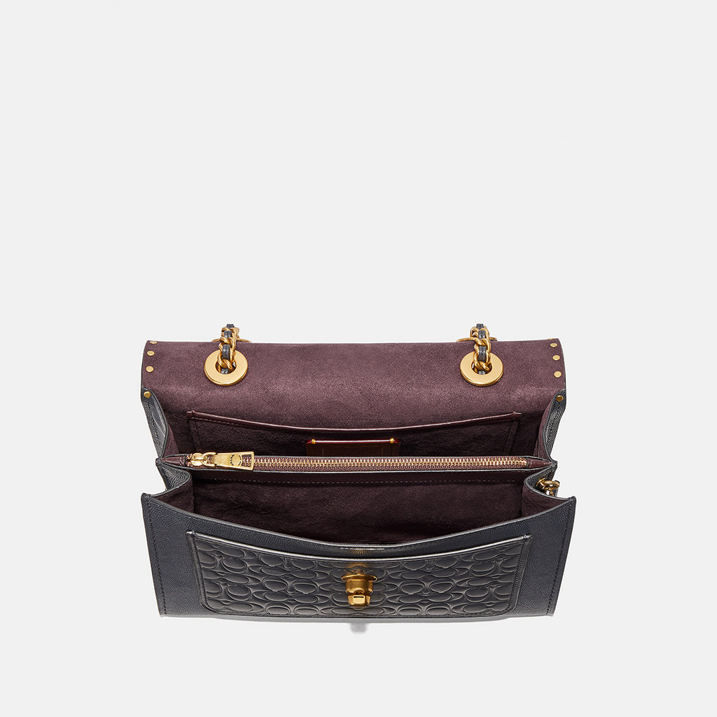 Signature Leather With Grain Colorblock Parker Shoulder Bag