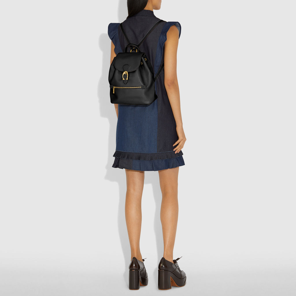 Polished Pebble Leather Evie Backpack