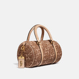 Barrel Bag In Signature Jacquard