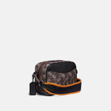 Camera Bag 16 in Horse and Carriage Print  and Varsity Stripe