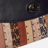 Coated Canvas Signature Exotic Patchwork Stripe Parker Top Handle