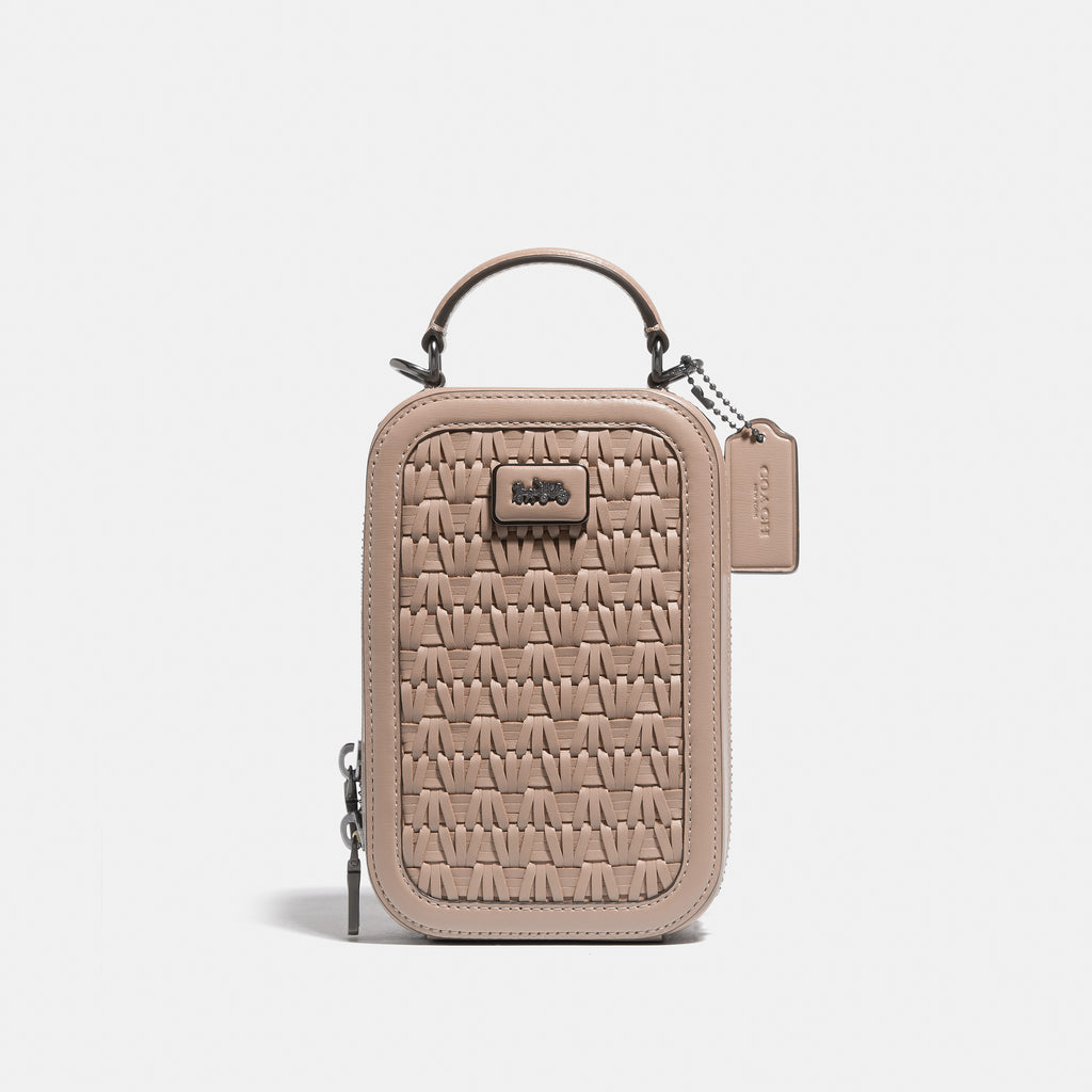 Woven Leather Alie Camera Bag