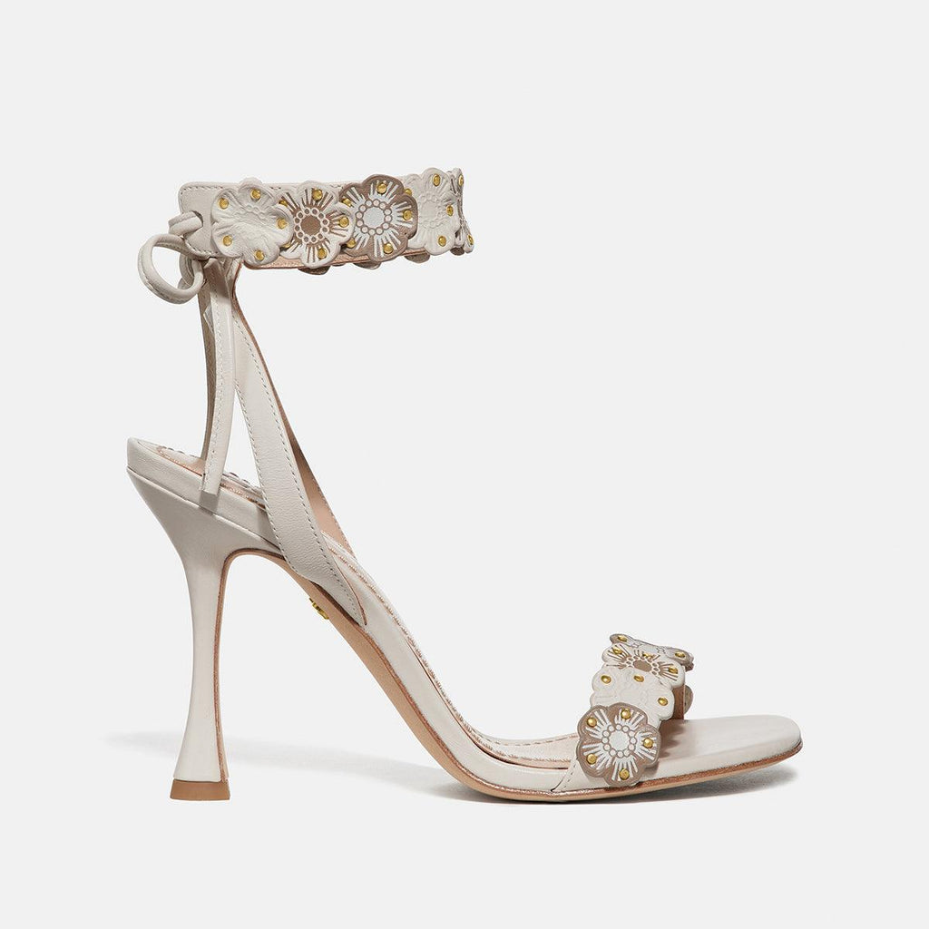 Brodie Link Tea Rose Heel Sandal- Leather