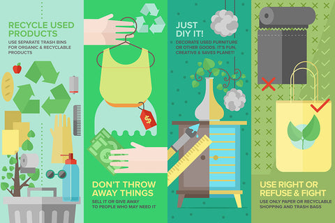 Reduce, Reuse, Recycle Infographic