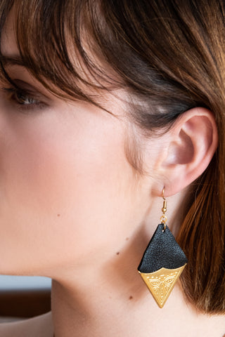 SULTRY Recycled Leather Earrings