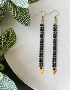 CLASSY Black Bubble Earrings