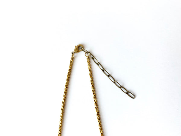 Brass rolo chain, lobster clasp and extender chain