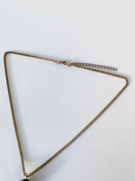 Clasp and box chain of lariat necklace