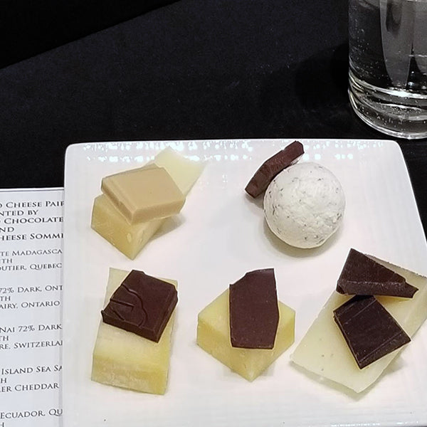 5 cheeses paired with 6 chocolates at JoJo CoCo