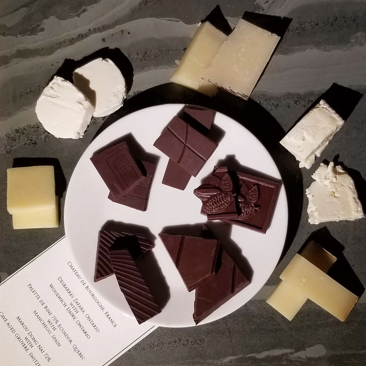 chocolate and cheese pairing notes, JoJo CoCo, Canada