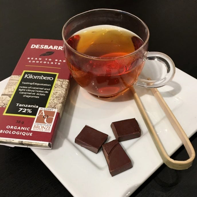 bean to bar chocolate paired with teas from World of Tea, Ottawa