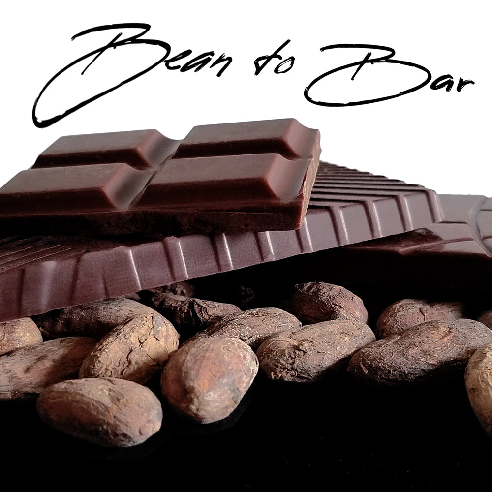chocolate bars and cocoa beans - bean to bar