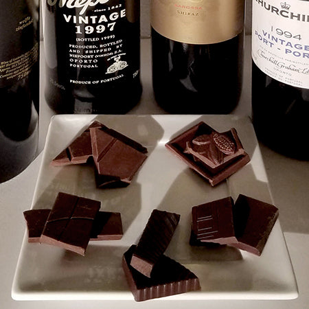 siraz and port pairing with dark chocolate