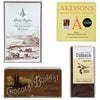 Seclection of 4 bean to bar from JoJoCoCo - Dick Taylor, Akesson's Chocolat Bonnet, Hummingbird
