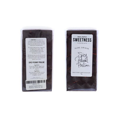 Bean to Bar Sweetness chocolate (in a collection of 4 bars) with heat / spice!