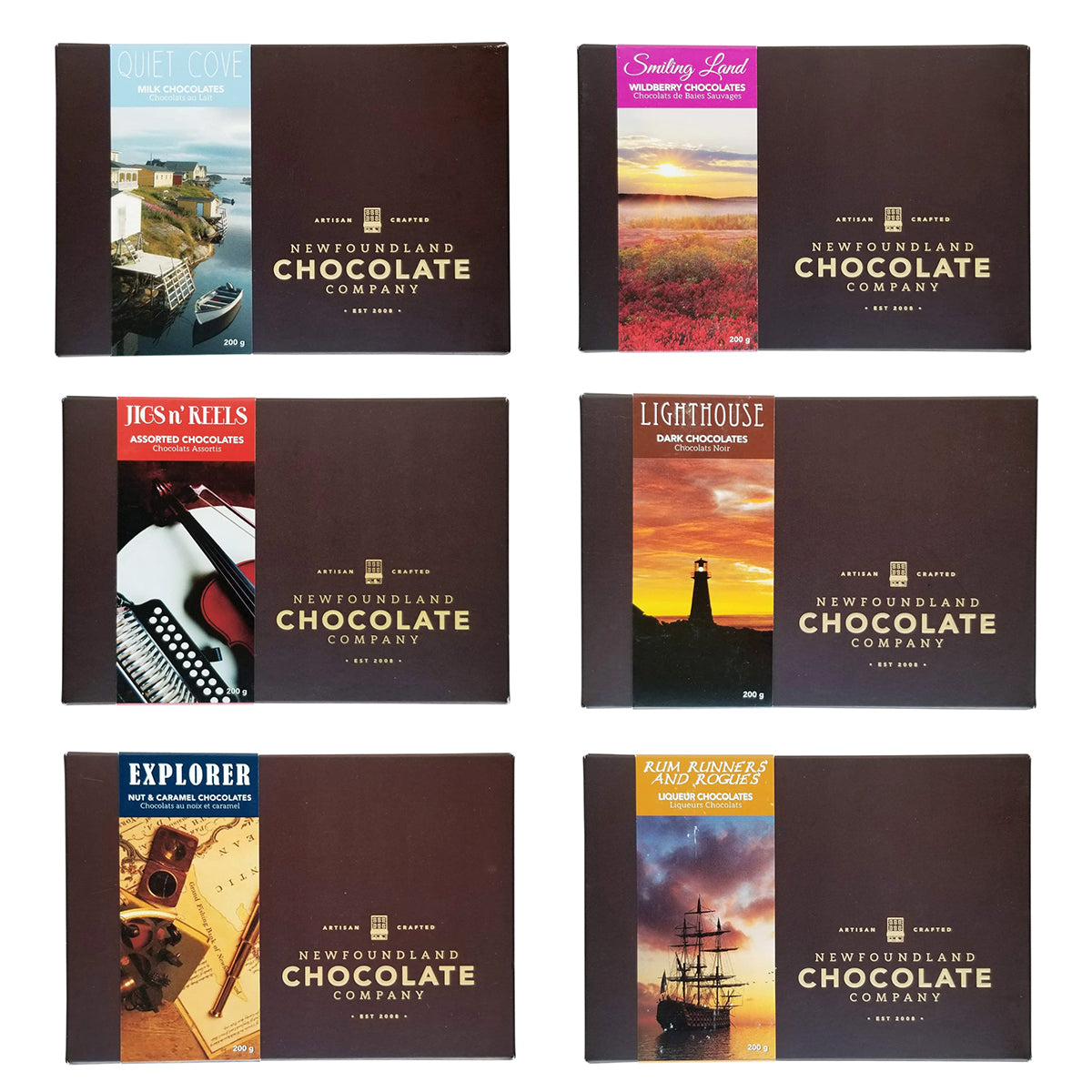 Newfoundland Chocolate Company, Assorted boxes of chocolates