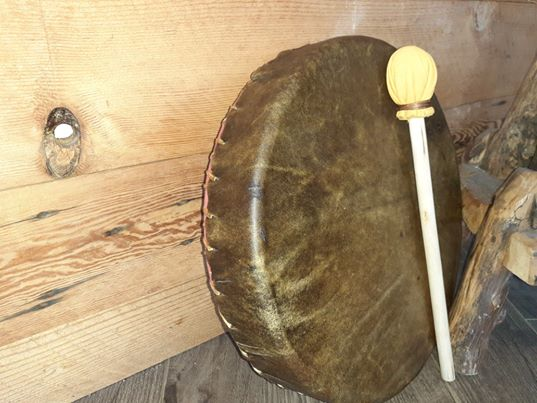 "Buffalo Skin 14"" drum -Indigenous, locally crafted"