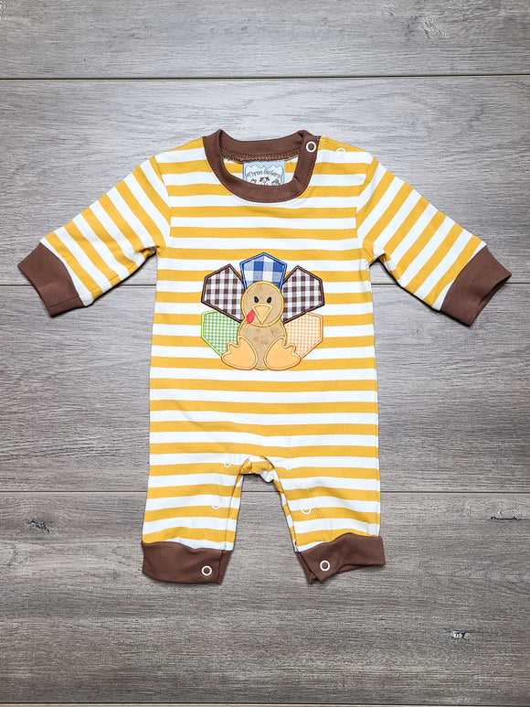 Turkey Time Boys Romper
