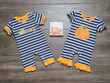 Pumpkin Cutie Girls Romper