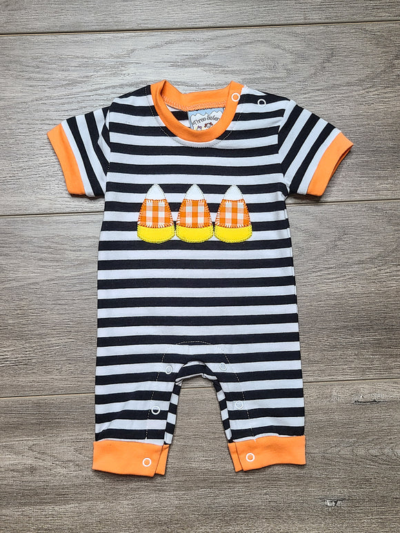 Candy Corn Boys Romper